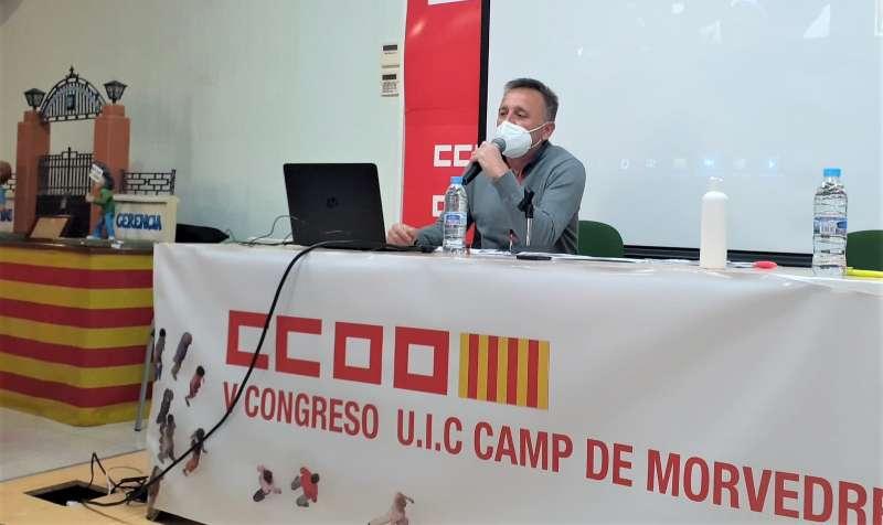 Sergio Villalba, durante el congreso celebrado esta mañana. / EPDA