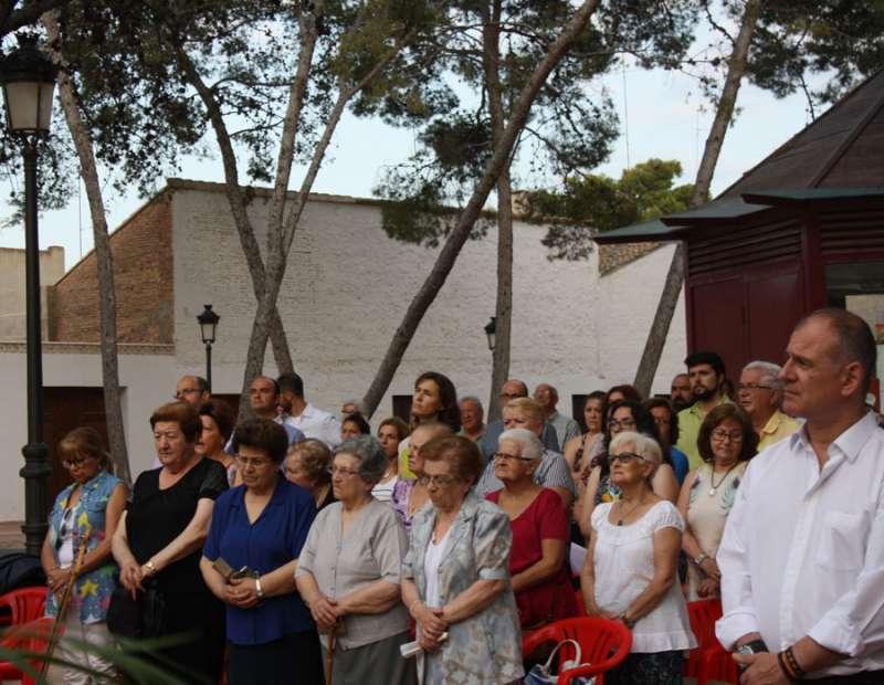 La comunidad cristiana en el acto. FOTO EPDA