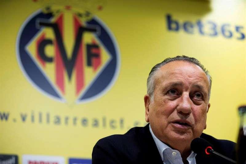Fernando Roig, presidente del Villarreal CF, en una rueda de prensa. EFE/Archivo