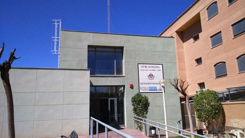 Fachada del Centro Ocupacional de Manises. EPDA