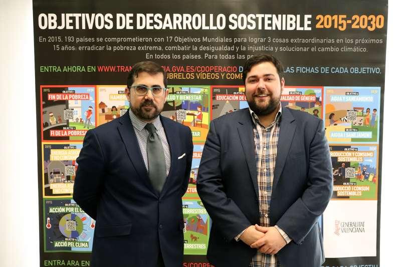 Federico Buyolo y Fran López, en Rafelbunyol. EPDA