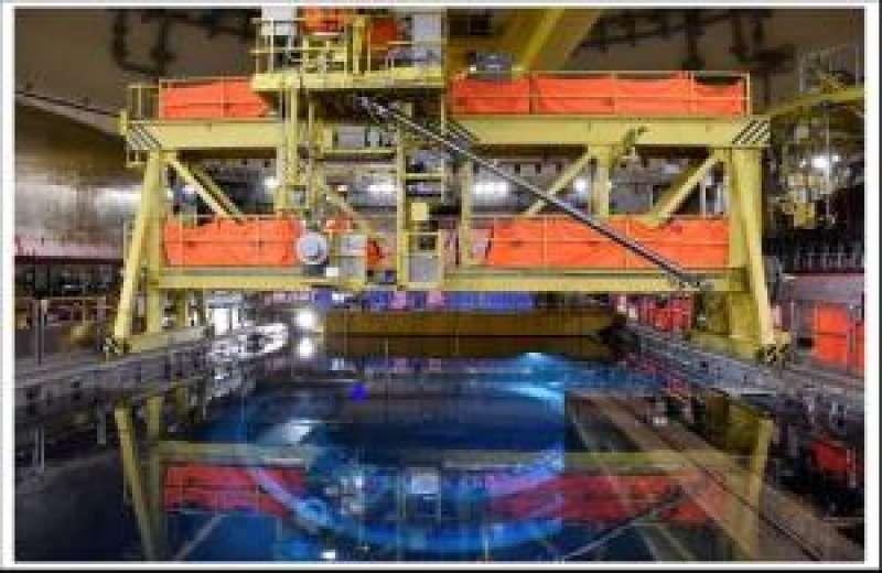 Imagen facilitada por Iberdrola del interior de la central nuclear de Cofrentes. EFE