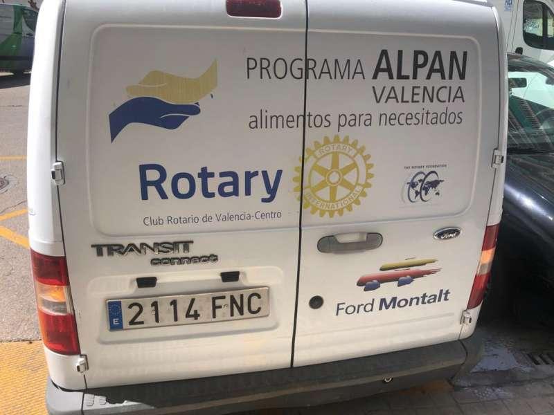 Furgoneta de reparto del proyecto ALPAN. EPDA