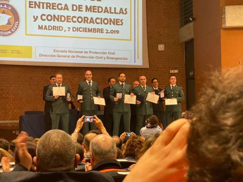 Acto de la entrega de medallas. EPDA