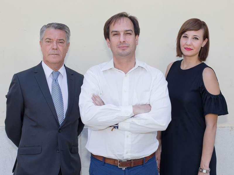 Joan Ignaci Culla, Jaume Hurtado y Amparo Arona. FOTO V. GUTIÉRREZ