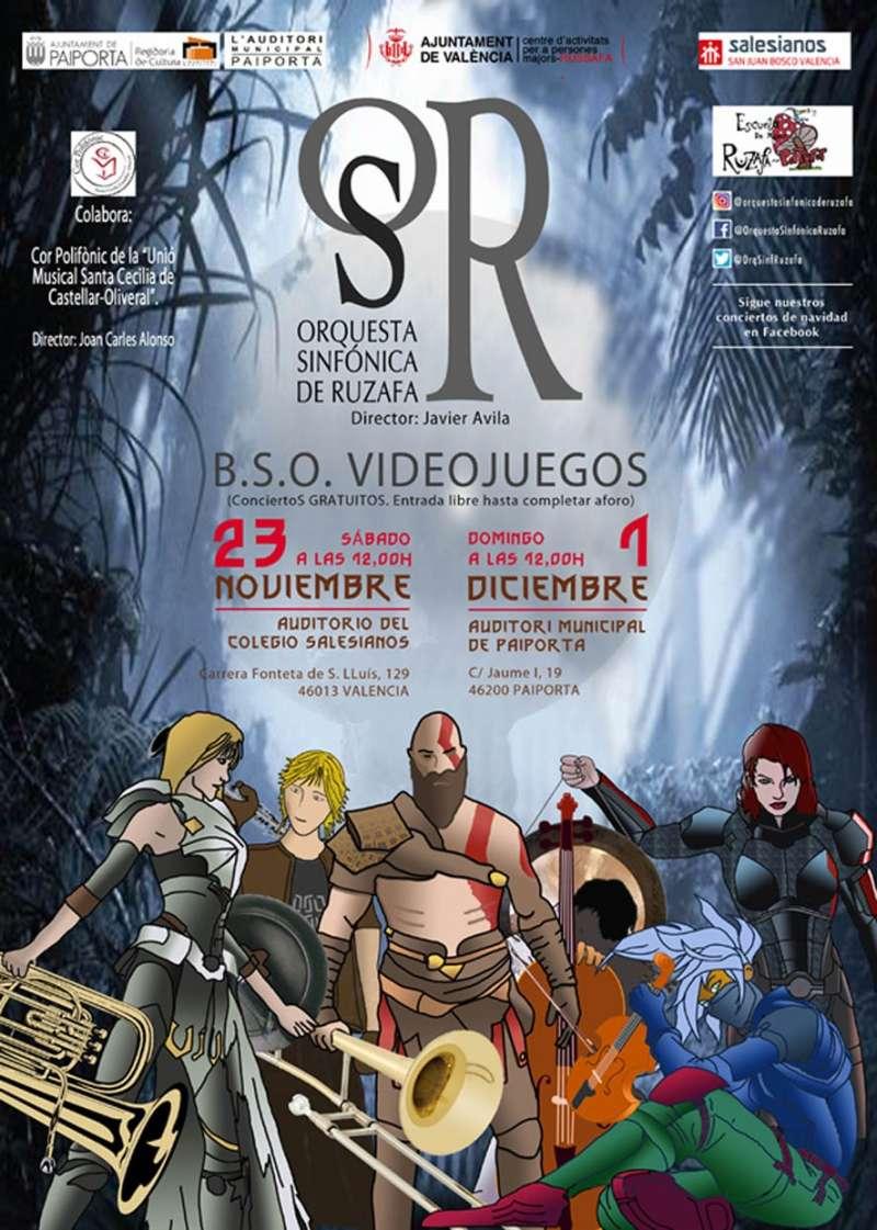 Cartel promo de la Orquesta Sinfónica de Ruzafa  -EPDA