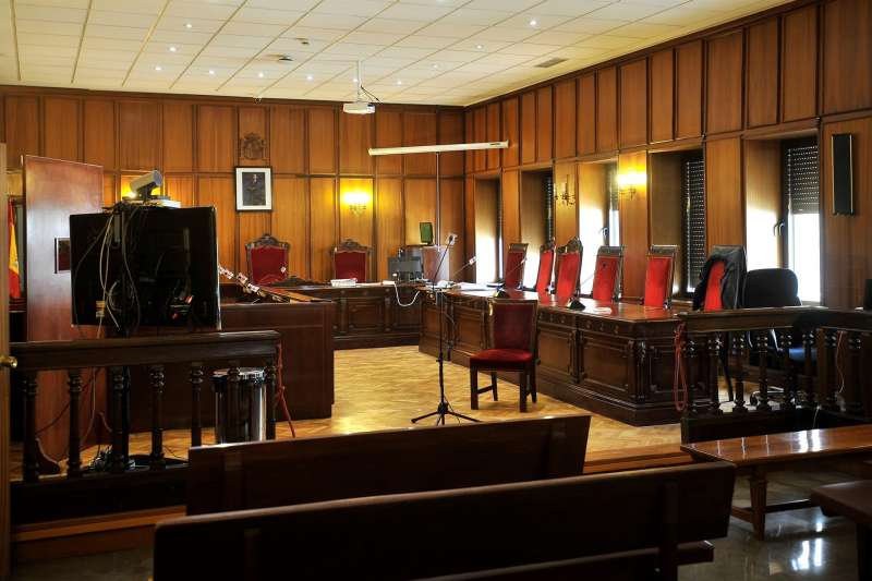 Vista de una sala de una Audiencia Provincial.
