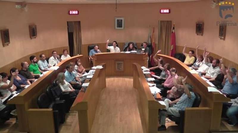Votación en el pleno de Paterna. EPDA