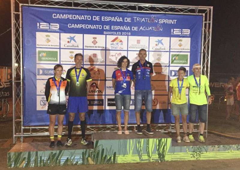 Inma Sánchez en lo alto del podio