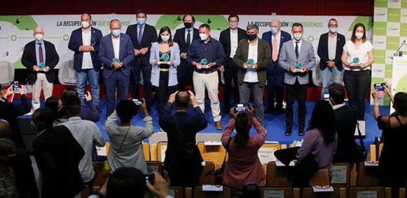 Claramunt amb la resta de premiats a Madrid