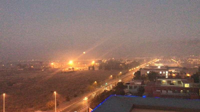 Imagen de Sagunto cubierto de humo  Foto: Graugo