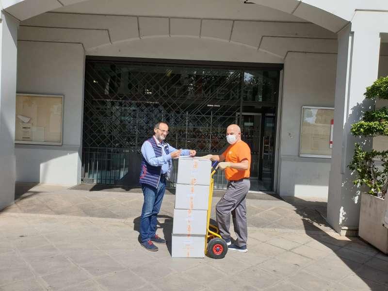 Mascarillas recibidas por el Ayuntamiento de Quart de Poblet, en la comarca de l