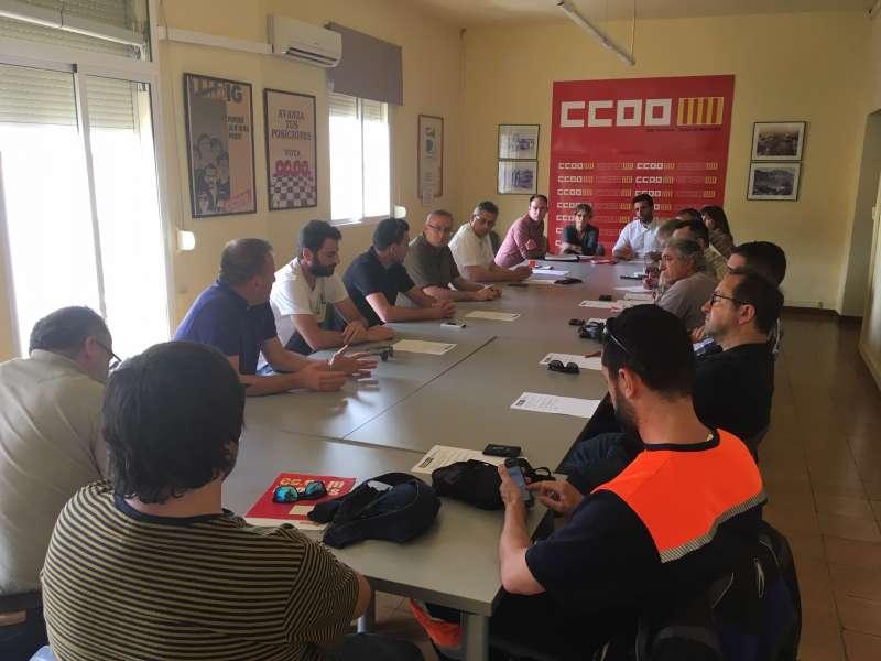 Reunión del PSPV de Sagunt con los representantes sindicales. EPDA