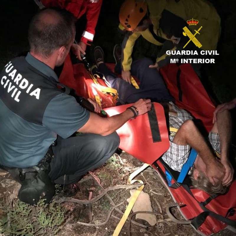 Uno de los rescatados tenía síntomas de infarto