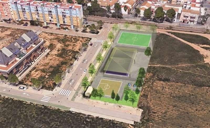 Vista aèria del futur Parc Jove de Picanya. EPDA
