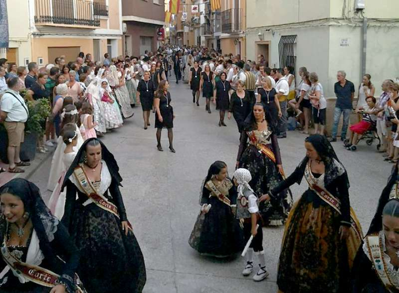 Momento de la procesión. Foto: L.Rosalén