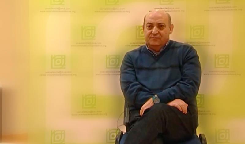El presidente de la confederación vecinal, Juan Antonio Caballero