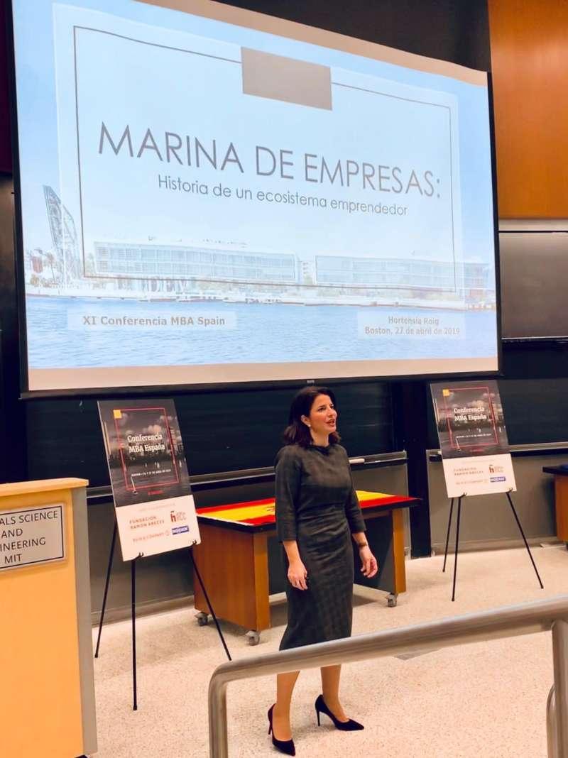 Hortensia Roig presenta Marina de Empresas en el MIT