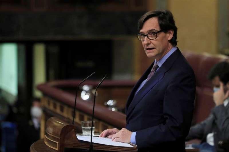 El ministro de Sanidad, Salvador Illa, comunica este jueves al pleno del Congreso la declaración del estado de alarma en Madrid