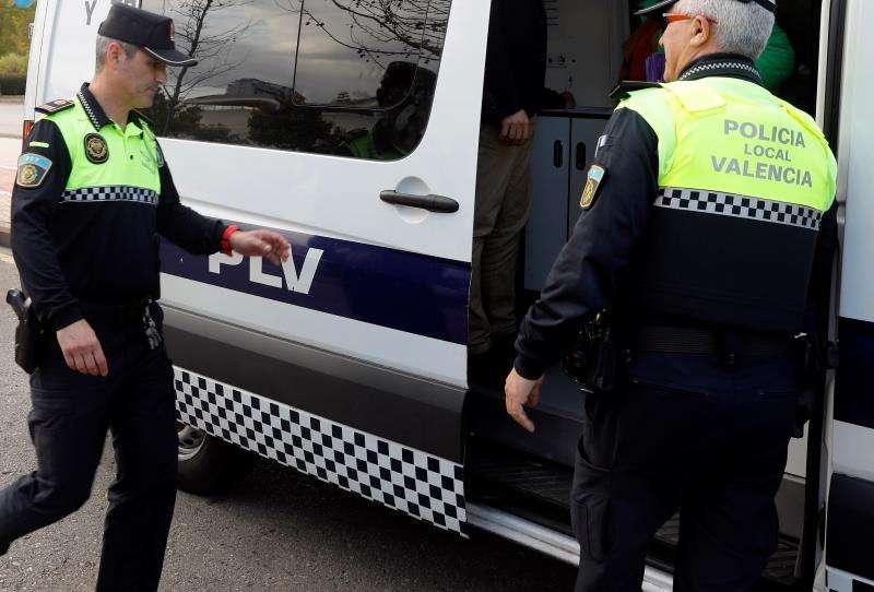 Agentes de la Policía Local de València. EFE/Archivo