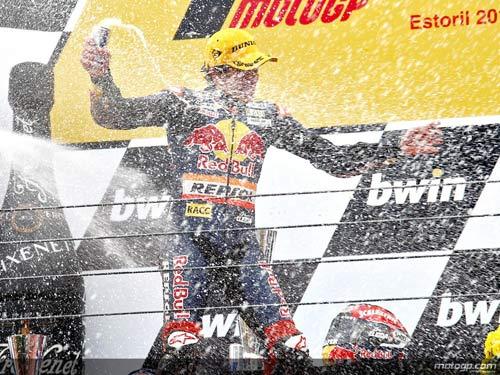 Marc Márquez, en el Gran Premio de Estoril. FOTO MOTOGP.COM