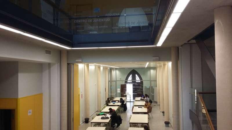 Sala de estudio del Centro de Juventud