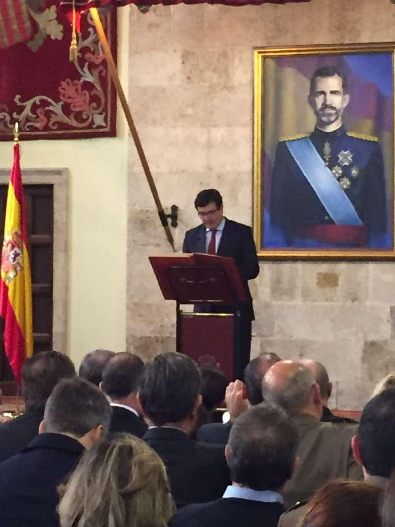 Giner en el acto celebrado con motivo del Día de la Constitución en el Convento de Santo Domingo de Valencia