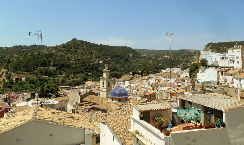 Visita de Buñol desde el Castillo