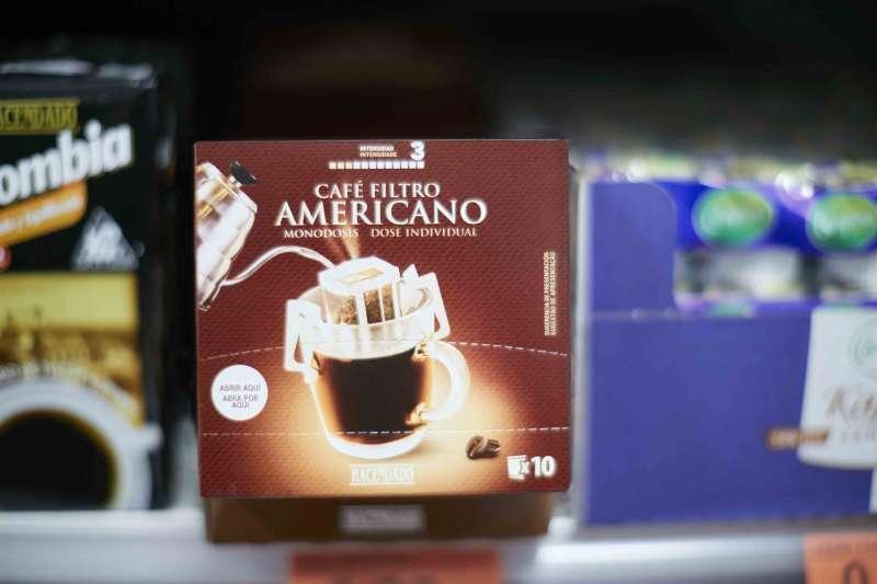 Café Filtro Americano Hacendado en el lineal de Mercadona. EPDA.