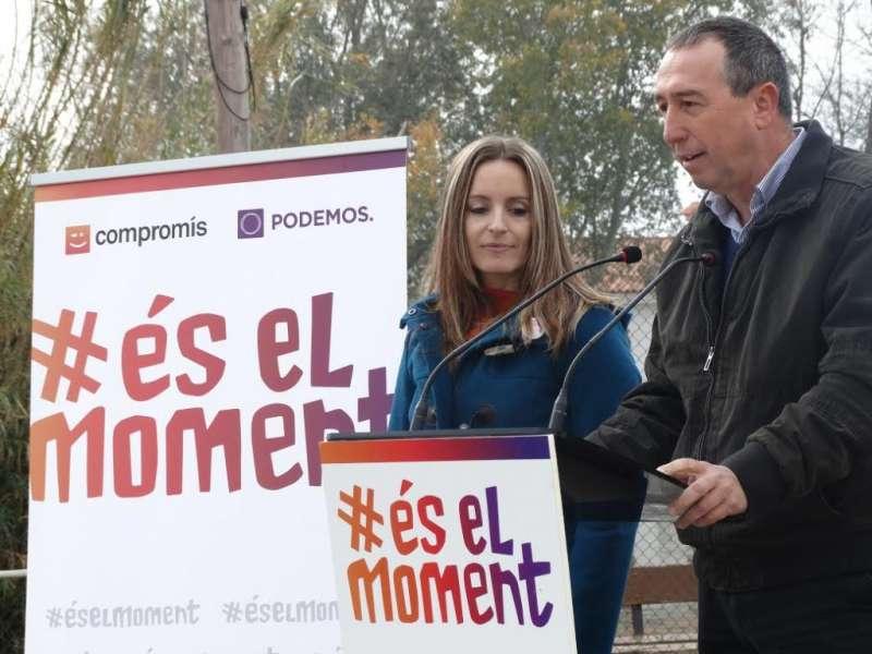 Els números 2 i 1 de Compromís-Podemos. FOTO COMPROMIS.NET