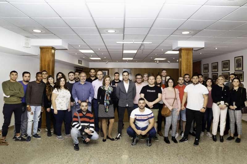 Jóvenes que colaboran en el programa EMCUJU y EMPUJU. -EPDA