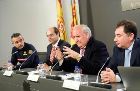 Presentación del plan de coordinación y colaboración de las Brigadas forestales de Imelsa y del Consorcio Provincial de Bomberos de Valencia. Foto: Abulaila