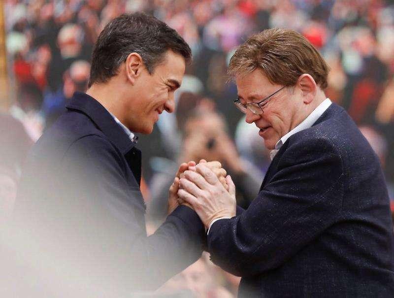Pedro Sánchez junto a Ximo Puig