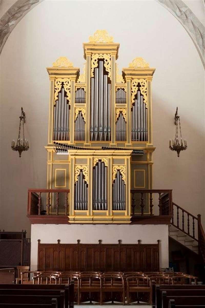 Imagen del órgano barroco restaurado facilitada por Capitanía de Valencia