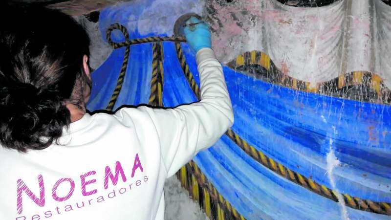 Trabajos de restauración en la Iglesia de Santiago de Benicalaf. EPDA