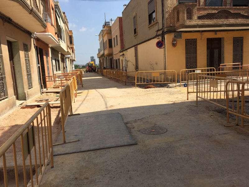 Obras de renovación de colector en Benetússer. EPDA