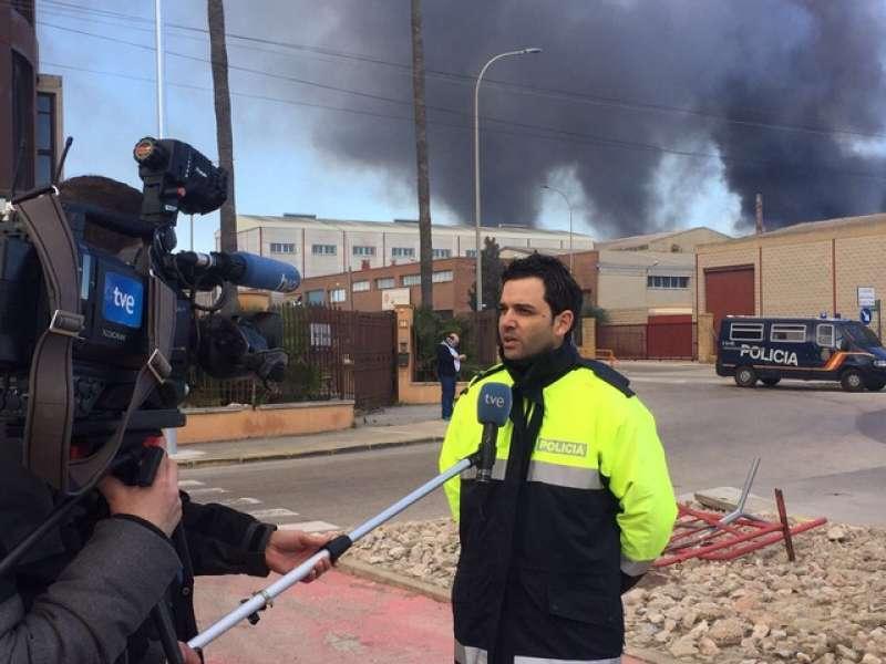 Imagen de archivo de Sagredo en el lugar del incendio. EPDA