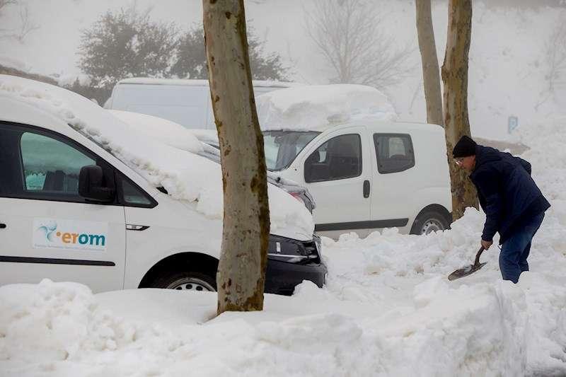 Una gran nevada, producida por la borrasca