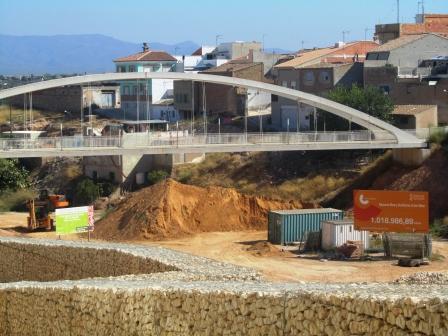 Obras del nuevo auditorio al aire libre de Riba-rroja del Túria. Foto gva.es
