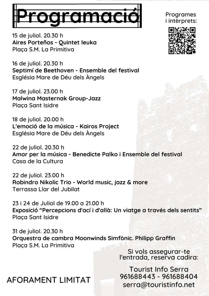 Festival Sierra Calderona. EPDA.