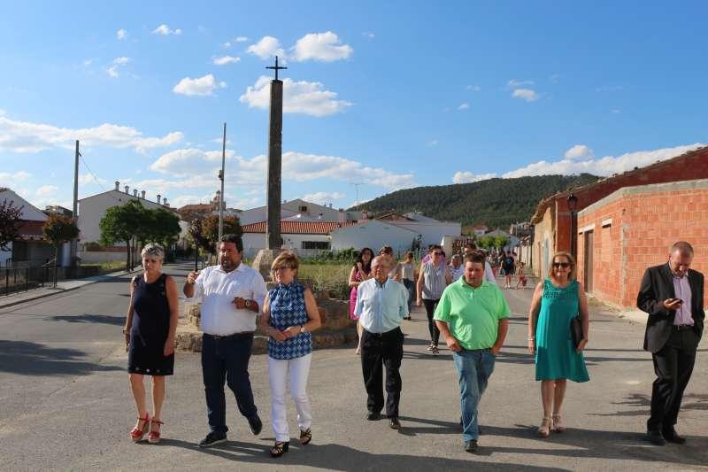 Miliner con la alcaldesa, en su visita a PIna de Montalgrao