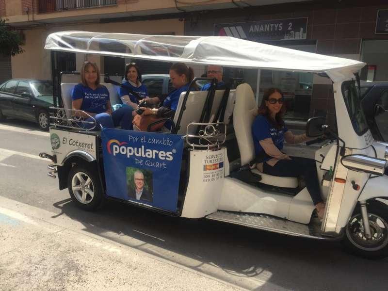 El cotxeret del PP de Quart de Poblet