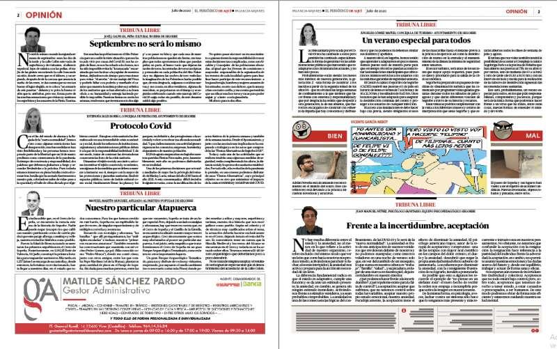Páginas 2 y 3 del periódico