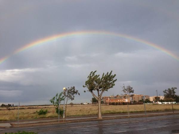 Arcoíris en la comarca del Camp de Morvedre. EPDA
