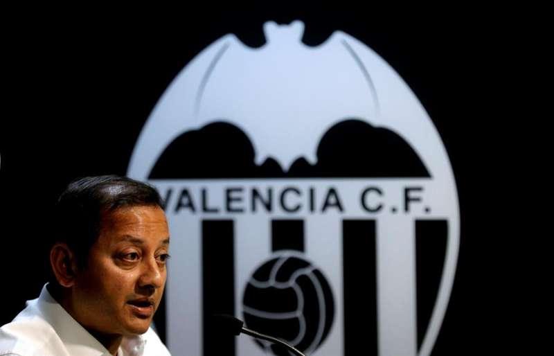 El presidente Murthy. El presidente del Valencia CF, Anil Murthy. EFE/Manuel Bruque/Archivo