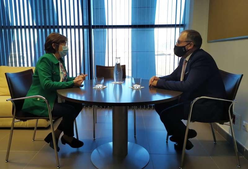 Reunión de Marín y Martí sobre el aeropuerto