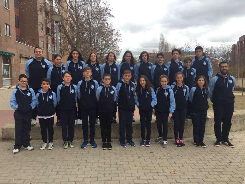 Equipo infantil masculino del Club de Natación de Aldaia. EPDA