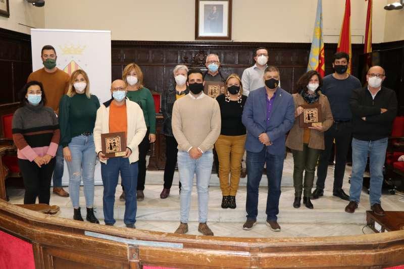 Representantes del ayuntamiento de Sagunto