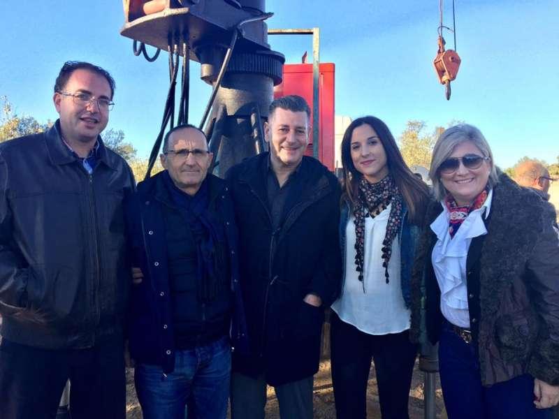 Visita de Aguar, Peris y Nofuentes a Caudete de las Fuentes
