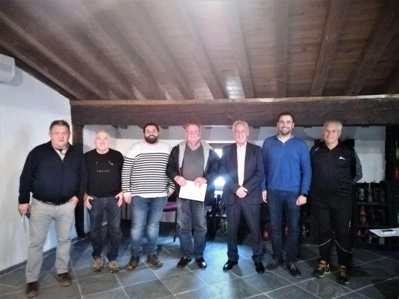Foto de grupo presentación del Trofeo de Orientación